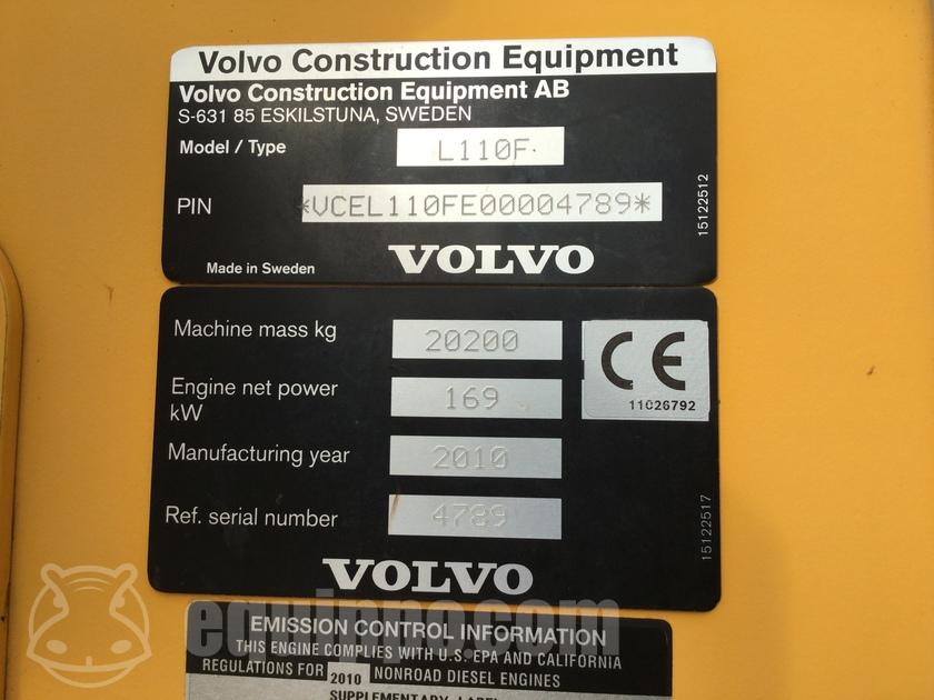 2010 Volvo L110F
