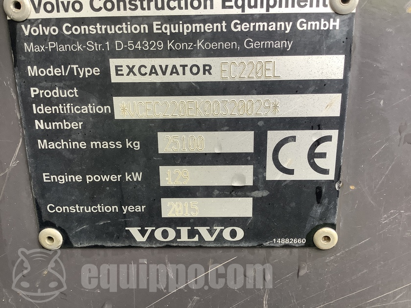 2015 Volvo EC220 EL